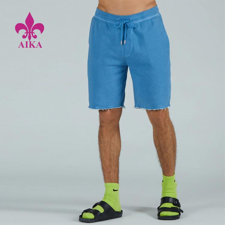 https://www.aikasportswear.com/oem-factory-price-sportswear-wholesale-100-cotton-drawstring-waist-men-custom-sweat-shorts-product/