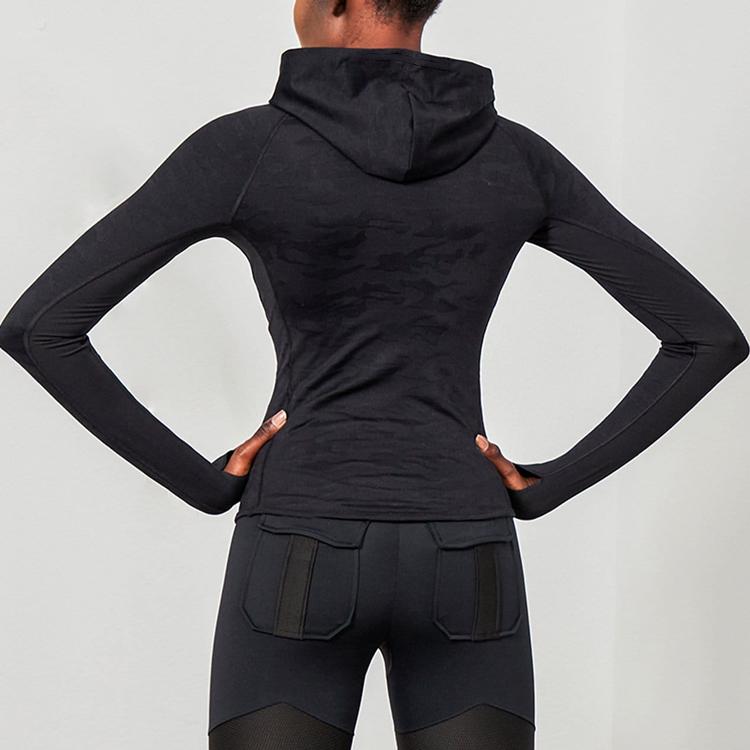 OEM Factory Slim Fit Thumb Holes Gym Drawstring Hoodie For Women
